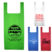 "12"" W x 22-1/2"" - ""Caveat"" Everyday Lightweight T-Shirt Style Grocery Shopping Tote Bag"