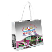 "12-3/4"" H x 15"" W - ""Margaret"" Non-Woven Full Color Laminated Wrap Carry All Tote and Shopping Bag"