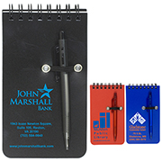 """Monterey"" Pocket Sized Spiral Jotter Notepad Notebook with Pen"