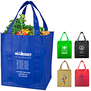 "13"" W x 14-1/2"" H -""Super Mega"" Grocery Shopping Tote Bag"