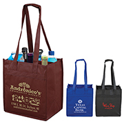 "10"" W x 11"" H -  ""The Sonoma"" 6 Bottle Wine Tote Bag"