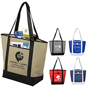 "17-1/2"" W x 13-1/2"" H x 6"" D - ""The City Life"" Beach, Corporate and Travel Boat Tote Bag"