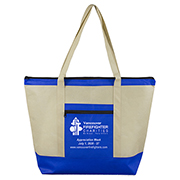 "21"" W x 16"" H -  ""Country Aire"" Oversized Beach & Travel Zippered Boat Tote Bag"