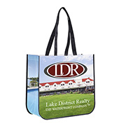 """15-3/4"""" W x 14-1/2"""" H - """"Meghan"""" Non-Woven Full Color Laminated Wrap Carry All Tote Bag"""