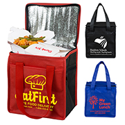 "8"" W x 8-1/2"" H - ""Super Frosty"" Insulated Cooler Lunch Tote Bag"