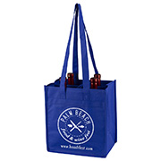 "10 "" H x 11"" W x 7"" ""The Brunello"" 4 Bottle Wine Tote Bag"
