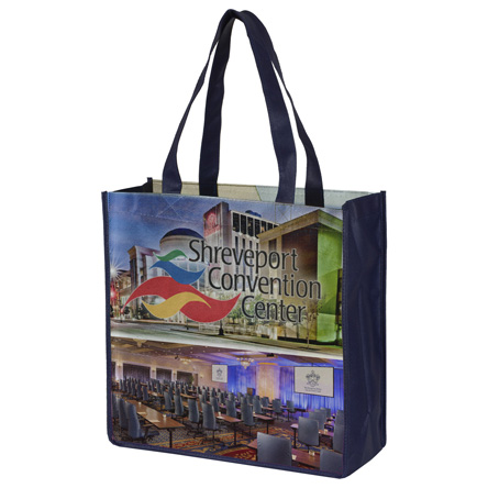 "13"" x 13 Full Color Sublimation Grocery Shopping Tote Bags"