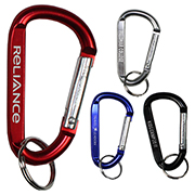 """Cara M"" Medium Size Carabiner Keyholder with Split Ring Attachment"