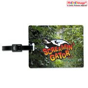 Jumbo Retangular PhotoImage Full Color Imprint Kwik Seal Luggage Bag Tag