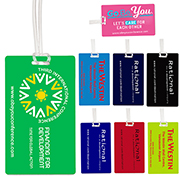 Neon & Stock Color Background Kwik-Seal Luggage Bag Tag