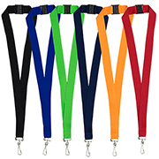 "1"" Blank Lanyard with Breakaway Safety Release Attachment - Swivel Clip"