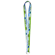 "1"" Textured Polyester Multi-Color Sublimation Lanyard"
