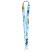 "1"" Super Soft Polyester Multi-Color Sublimation Lanyard (Overseas Production 8-10 Weeks)"