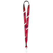 """3/4"""" Textured Polyester Multi-Color Sublimation Lanyard"""
