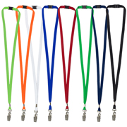 "3/8"" Blank Lanyard with Breakaway Safety Release Attachment - Bulldog Clip"