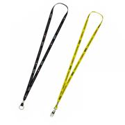 """3/8"""" Textured Polyester Multi-Color Sublimation Lanyard"""