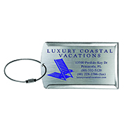 """Prestige"" Brushed Metal Luggage Bag Tag"