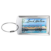 'Prestige' Brushed Metal Luggage Bag Tag (PhotoImage Full Color)