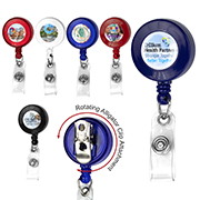 """Bellefontaine VL"" 30"" Cord Round Retractable Badge Reel and Badge Holder with Rotating Alligator Clip Attachment"