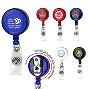 """""""Bellefontaine VL"""" 30"""" Cord Round Retractable Badge Reel and Badge Holder with Rotating Alligator Clip Attachment"""