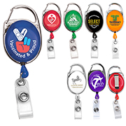 """Oberlin"" 30"" Cord Retractable Carabiner Style Badge Reel and Badge Holder (Patent D539,122)"