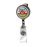 """""""Marion Matte"""" 24"""" Cord Round Matte Solid Metal Retractable Badge Reel and Badge Holder"""
