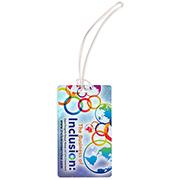 """Thunderbolt PI"" PhotoImage ® Full Color Imprint* ID Slip-In Pocket Luggage Bag Tag"