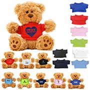 """Ted T. Bear"" 6"" Plush Teddy Bear With Choice of T-Shirt Color"