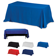 6' 3-Sided Economy Table Covers & Table Throws -Blanks / Fit 6 Foot Table