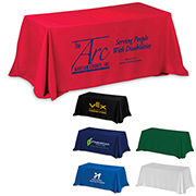 """""""Preakness Six"""" 3-Sided Economy Table Cover & Throws (Spot Color Print) / Fits 6 ft Table"""
