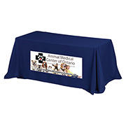 """Preakness Eight"" 3-Sided Economy 8 ft Table Cloth & Covers (PhotoImage Full Color) / Fits 8 ft Table"