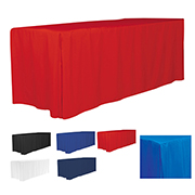 6' 4-Sided Fitted Style Table Covers & Table Throws (Blanks) / Fit 6 Foot Table