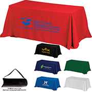 6' 4-Sided Throw Style Table Covers & Table Throws (Spot Color) / Fit 6 Foot Table