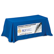 """Zenyatta Six"" 4-Sided Throw Style Table Covers & Table Throws (PhotoImage Full Color) / Fits 6 ft Table"