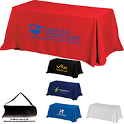 8' 4-Sided Throw Style Table Covers & Table Throws (Spot Color Print) / Fit 8 Foot Table