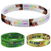 "1/2"" Stretchy Elastic Dye Sublimation Wristbands - PhotoImage ® Full Color Imprint"