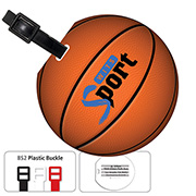 Jumbo Basketball Luggage Bag Tag with Printed ID Panel