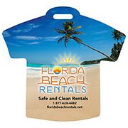 """Palm"" Stock Shape Beach Scene T-Shirt Luggage Bag Tag† with Printed ID Panel"