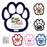 Stock Shape Paw Luggage Bag Tag with Printed ID Panel