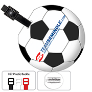 Recycled Jumbo Soccer Ball Luggage Tag