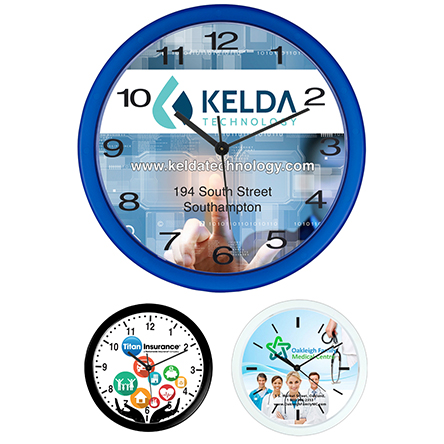 "Wedge"" 10 Economy Wall Clock"