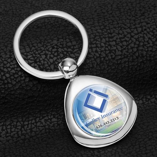 """Infini"" Metal Keyholder with PhotoImage ® Full Color Domed Imprint*"