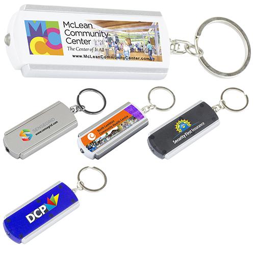 """Voyager FC"" PhotoImage ® Full Color Imprint Slim Keyholder Keylight with Bright White LED Light"