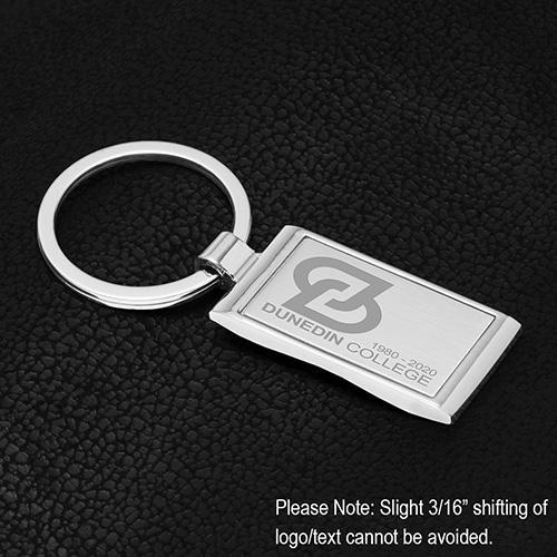 """Geo"" Economy Laser Engraved Metal Keyholder"