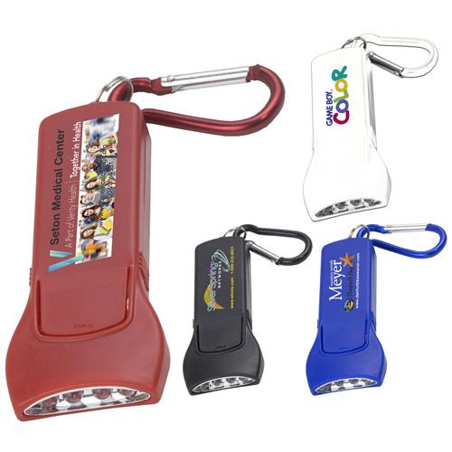 """""""Beamer"""" 4 LED Keyholder Keylite with Carabiner Clip (Photoimage Full Color)"""