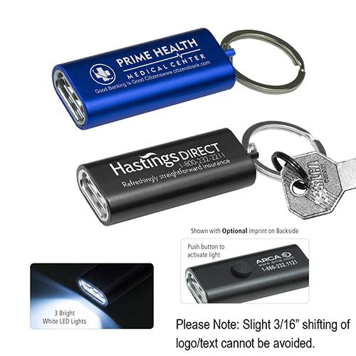 """Titania"" 3 LED Ultra Thin Aluminum Keychain Keylight"