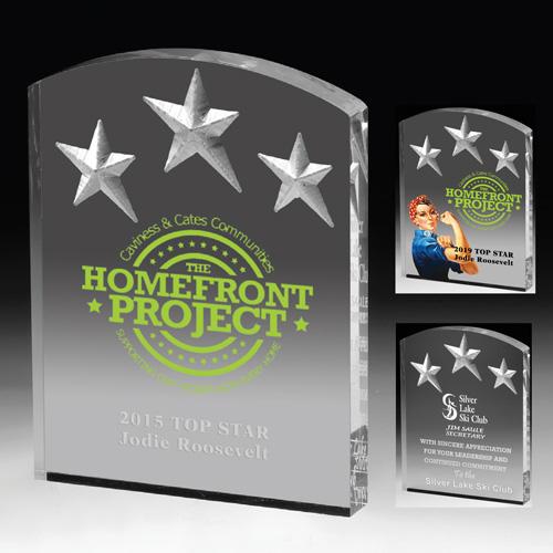 1403S (Screen Print), 1403L (Laser), 1403P (4Color Process) - Freestanding Acrylic Awards
