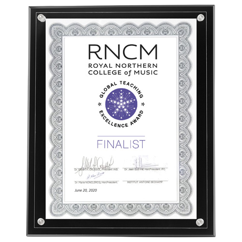 """Large Certificate Holder - Clear on Black - 8"""" x 10"""" Insert"""