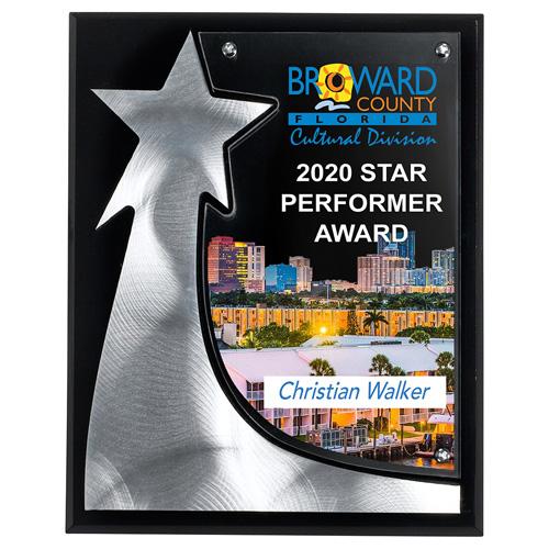 1447S (Screen Print), 1447L (Laser), 1447P (4Color Process) - The Rising Star Plaque