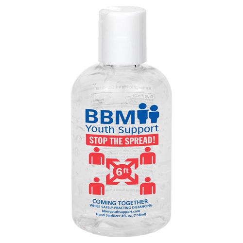"""SEQUOIA"" 4 oz Hand Sanitizer Antibacterial Gel Spot Color Imprint"